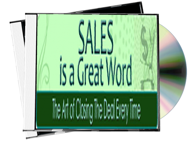 Sales is a Great Word 3D CD Cover