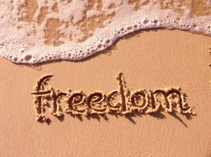 freedom in sand