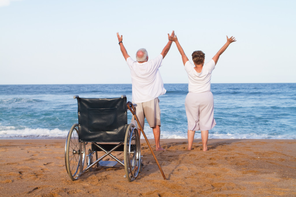 senior couple free from illness