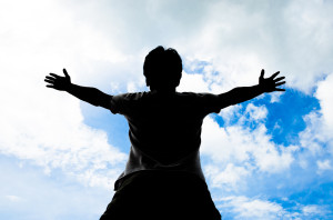 http://www.dreamstime.com/royalty-free-stock-photos-praisr-sky-background-man-lift-ut-his-hand-to-pray-praise-image33272398