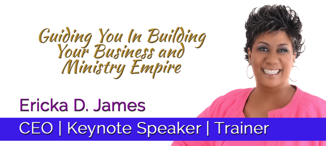 Ericka D. James, CEO, Keynote Speaker, Trainer header image